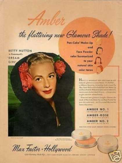 Max Factor Make-up Ad Betty Hutton (1948)