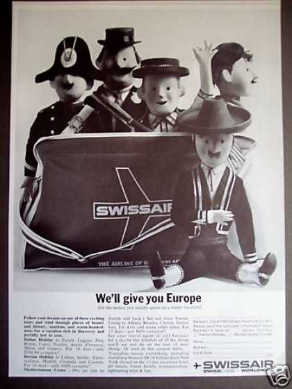 Swissair Airline Puppet Art (1961)