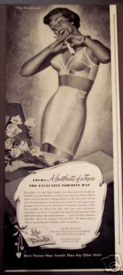 Life By Formfit Bra Girdle Fashion Art (1950)