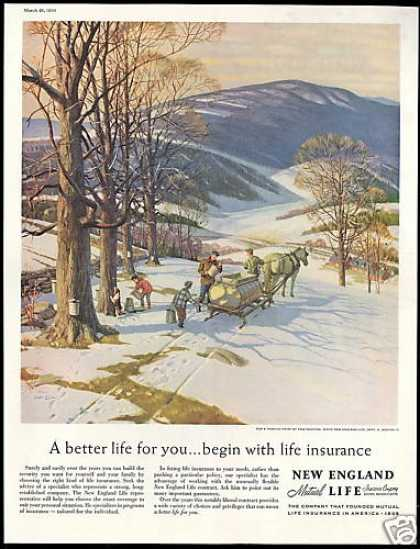 Maple Trees Syrup Harvest New England Insurance (1959)