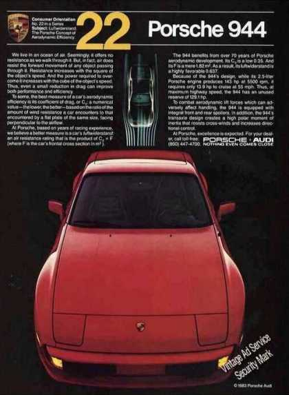 Red Porsche 944 Collectible Photo (1983)