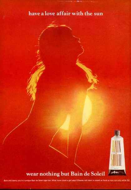Bain De Soleiltan Lotion Nude In Sun Art (1966)
