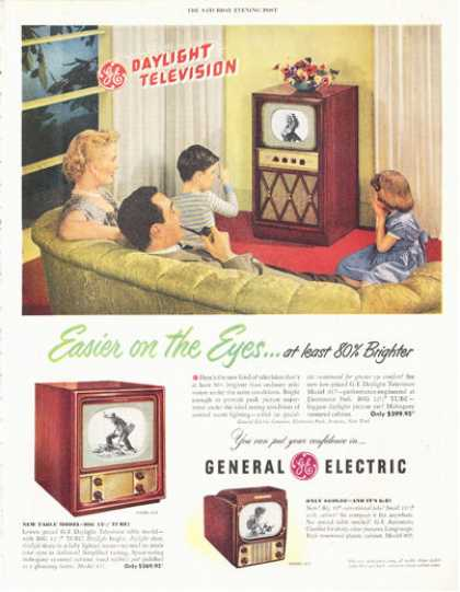 General Electric Television Tv Print (1949)