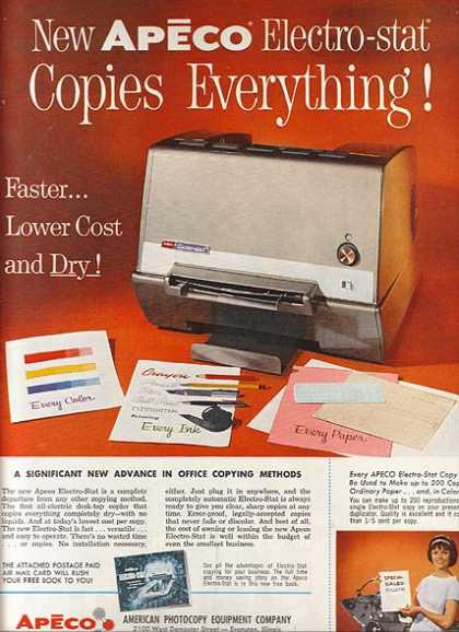 Apeco (Electro-Stat Copier) (1962)