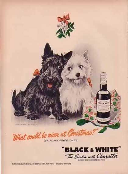 Black & White Whiskey Christmas – in Color (1949)