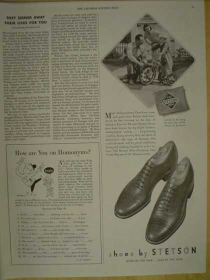Shoes by Stetson. Child tricycle theme (1945)