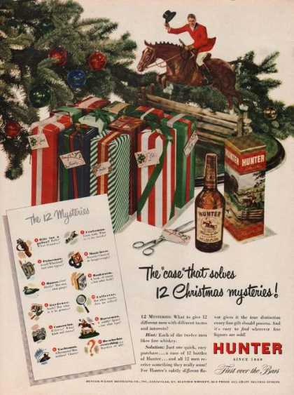 """Case That Solves"" Hunter Whiskey (1949)"