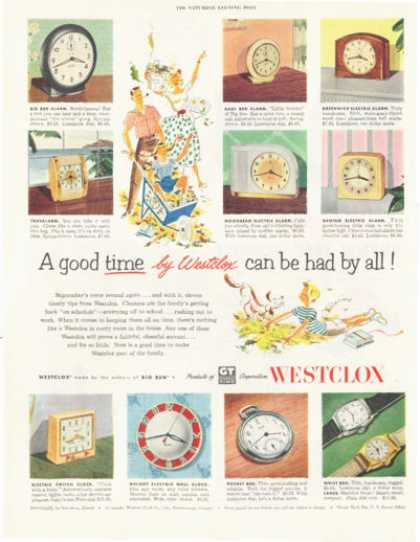 Westclox Clock Pocket Wrist Watch (1952)