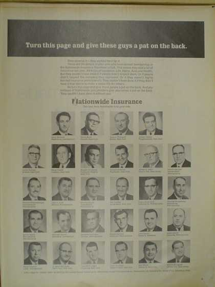 Nationwide Insurance Agent listing. (1968)