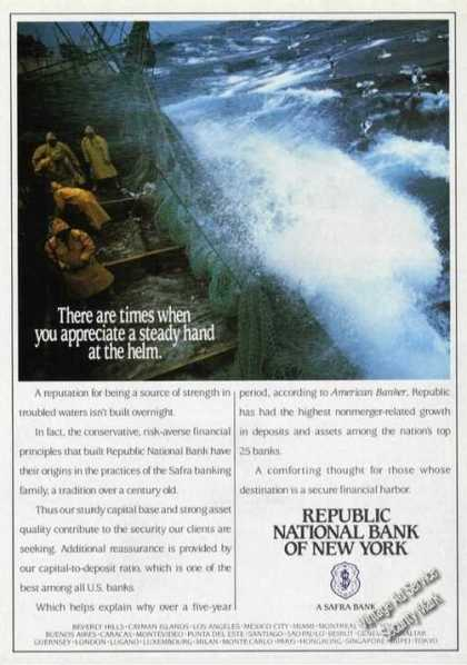 Republic National Bank of Ny Storm at Sea (1989)