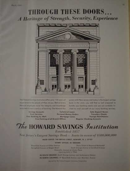 The Howard Savings Institution New Jersey (1964)