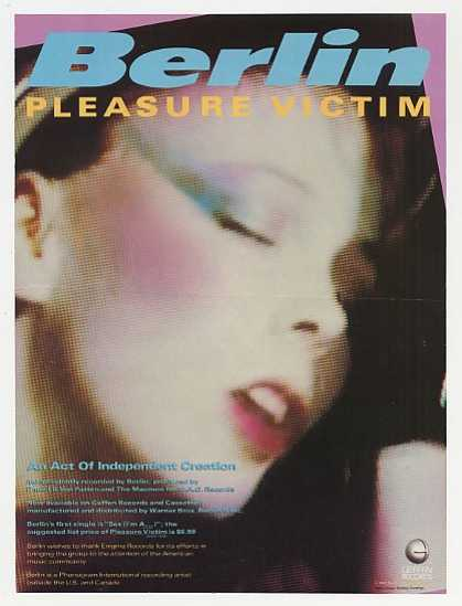Berlin Pleasure Victim Album Promo Photo (1983)