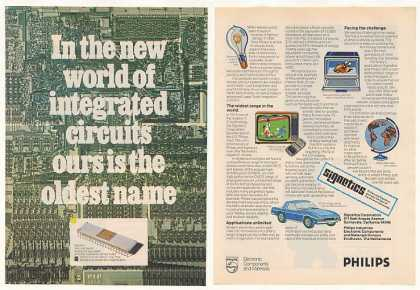 Philips Signetics Microprocessor Chip (1977)