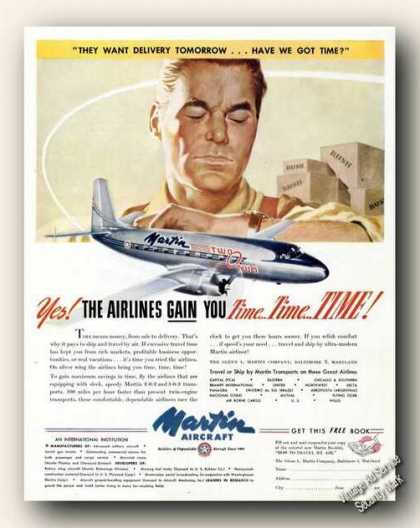 Martin Aircraft 2-0-2/3-0-3 Transports Antique (1947)