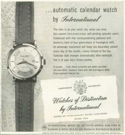 International Calendar Watch of Distinction (1955)