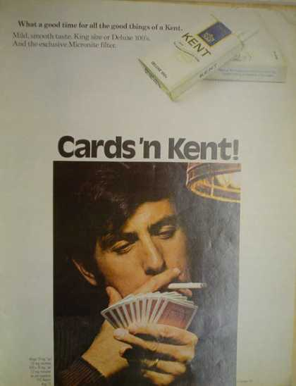 Kent Cigarettes Cards &#8217;n Kent Cards theme (1971)