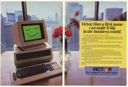 Victor Computer Big in Business World (1983)
