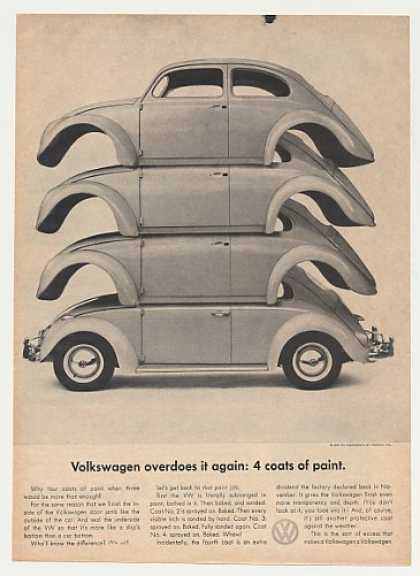 VW Volkswagen Beetle Bug 4 Coats of Paint (1961)