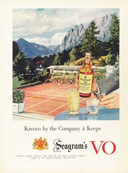 Seagram's Whiskey Tennis Court (1955)