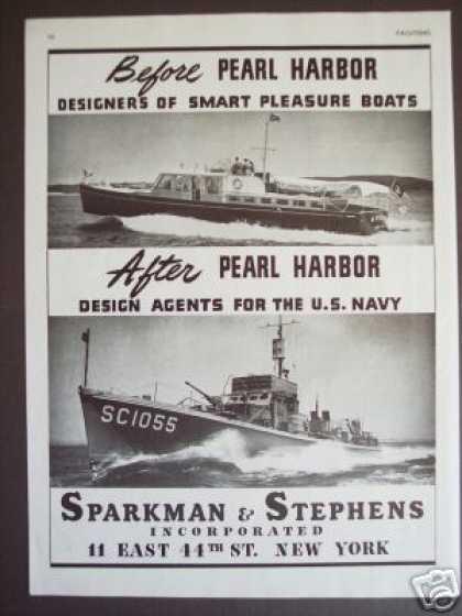 Sparkman & Stephens Ny Boat Designer Wwii Photo (1943)