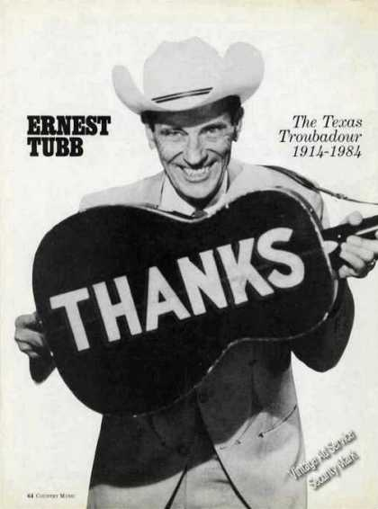 Ernest Tubb In Memoriam Photo Magazine Feature (1984)