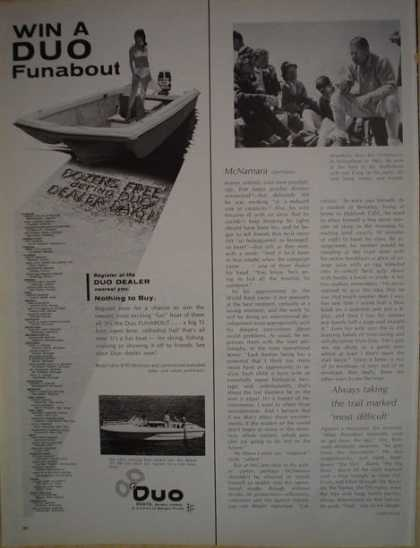 Duo Funabout Motor boat Duo Boats (1968)