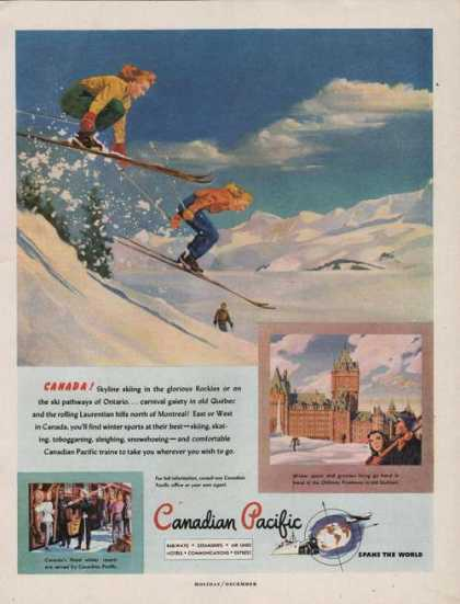 Canadian Pacific Railways Printad (1947)