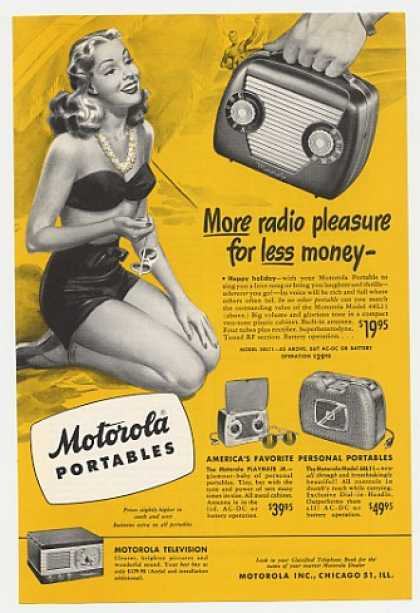 Motorola 48L11 Playmate Jr 68L11 Portable Radio (1948)