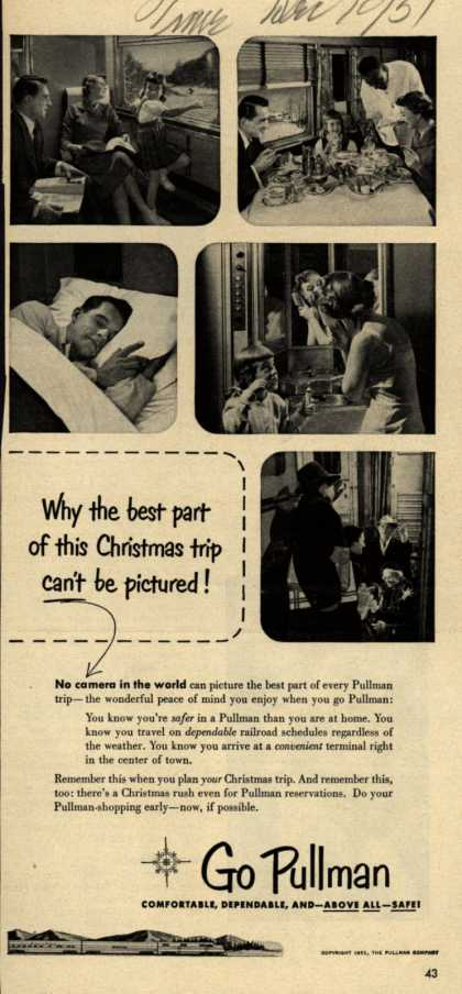 Pullman Company – Why the best part of this Christmas trip can't be pictured (1951)
