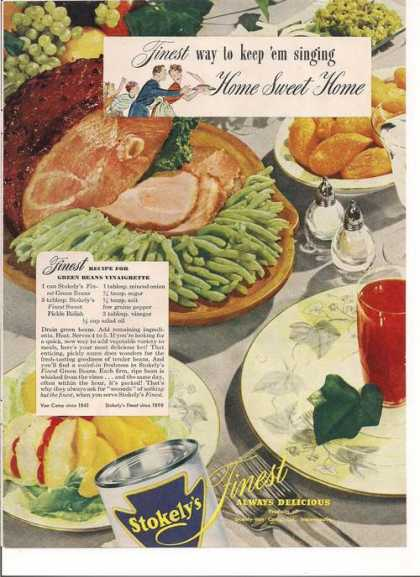 Stokelys Canned Vegetables (1946)