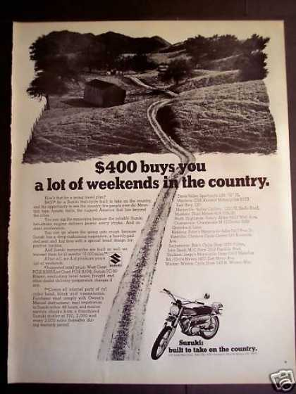 Suzuki Trail-cycle Motorcycles (1970)
