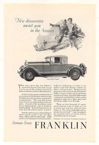 Franklin Convertible Coupe Airman Vintage (1928)