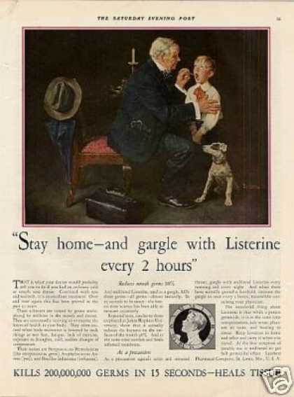 Listerine Color Ad Norman Rockwell Art (1931)