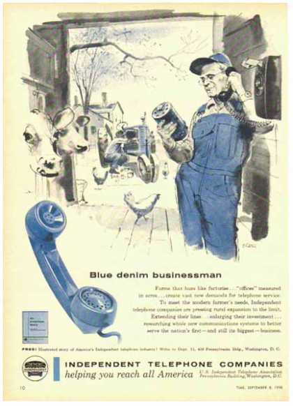 Independent Telephone Companies – Blue Denim Businessman (1958)