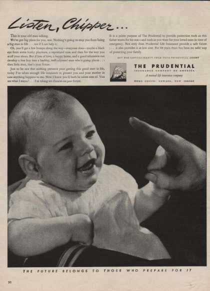 """""""Listen Chipper"""" the Prudential Insurance (1944)"""