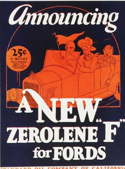 Zerolene F for Fords