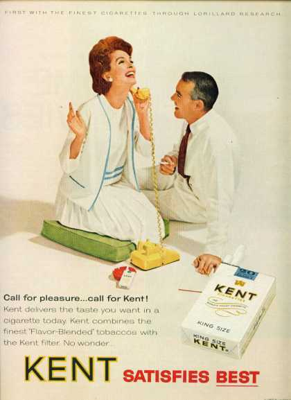 Kent Cigarettes Couple Smoking On Telephone (1965)
