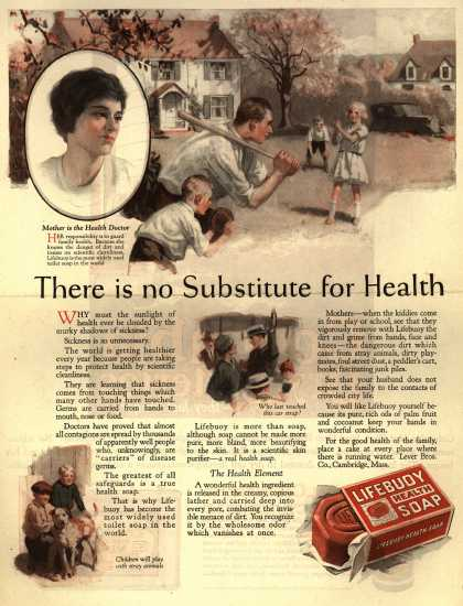 Lever Brothers Company's Lifebuoy Health Soap – There is no Substitute for Health (1923)