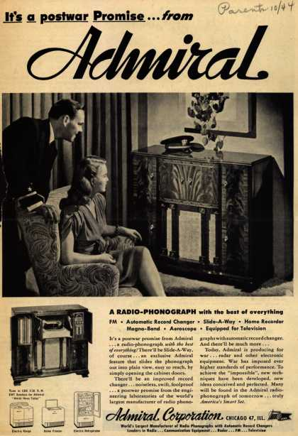 Admiral Radio's Radio – It's a postwar promise... from Admiral (1944)