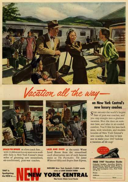 New York Central System's New York Central – Vacation all the way - (1947)
