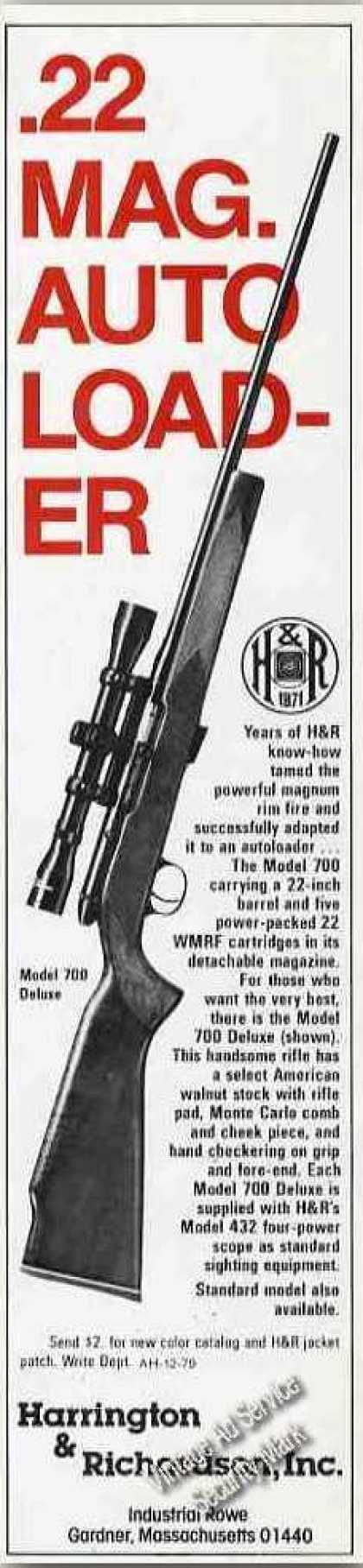 Harrington & Richardson Model 700 .22 Mag. Gun (1979)