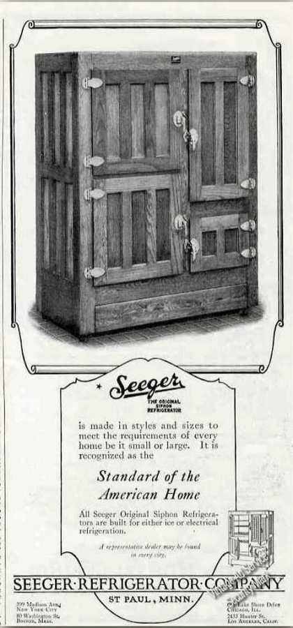 Seeger Original Siphon Refrigerator Antique (1924)