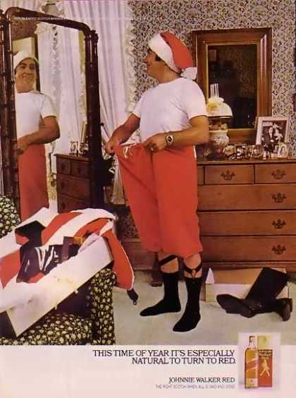Johnnie Walker Red Christmas – Santa's lost weight. (1977)
