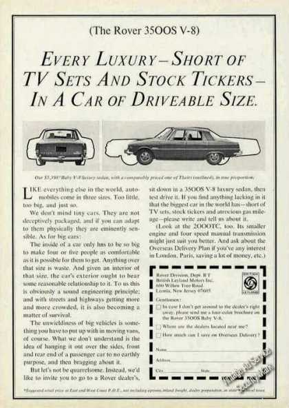 "Rover 3500s V-8 ""Every Luxury Driveable Size"" (1970)"