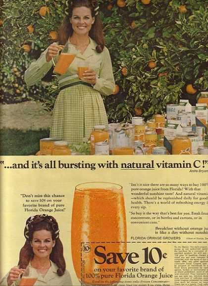 Florida Orange Juice – Anita Bryant (1970)