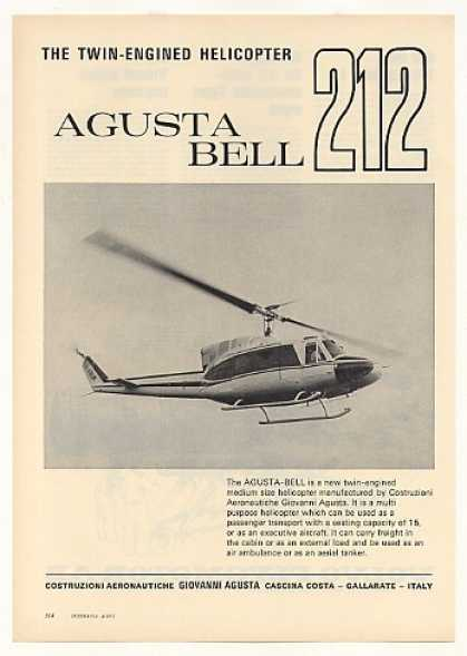 Agusta Bell 212 Twin-Engine Helicopter Photo (1971)