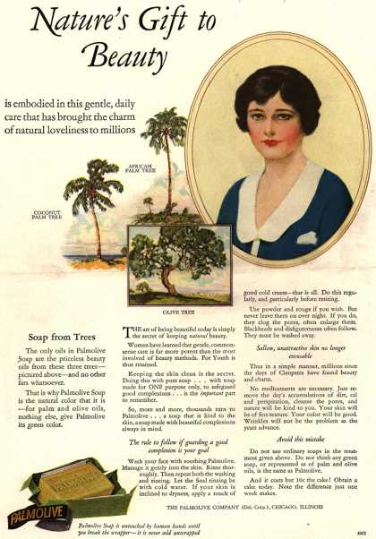 Palmolive Company's Palmolive Soap – Nature's Gift to Beauty (1926)