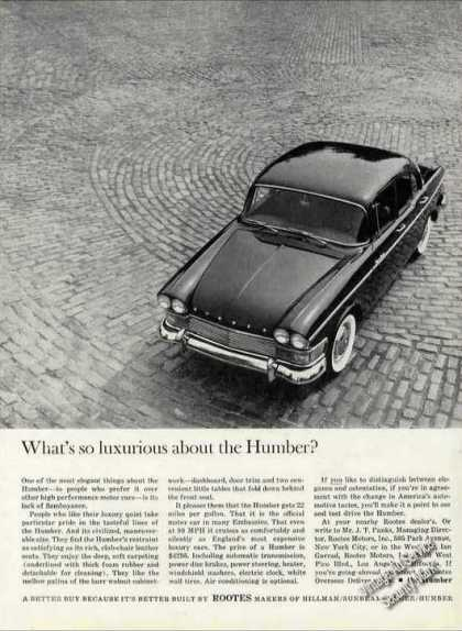 What's So Luxurious About the Humber? (1962)