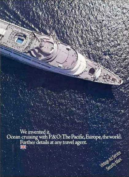 Ocean Cruising With P&o Impressive Ship Photo (1971)