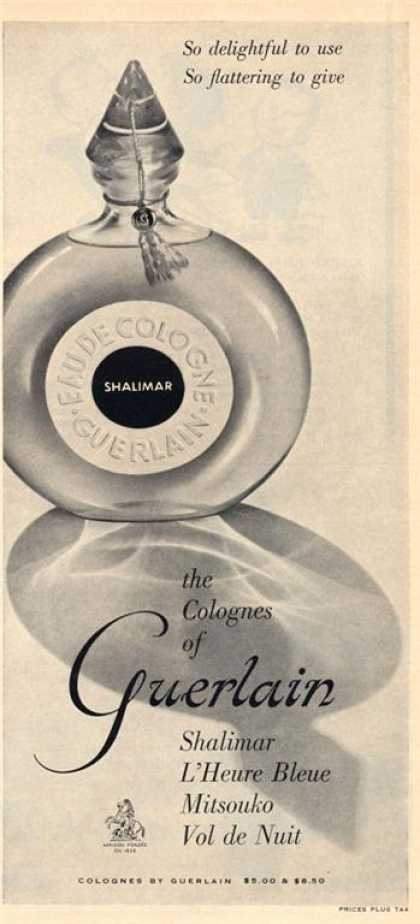 Guerlain Shalimar Colognes Bottle (1960)